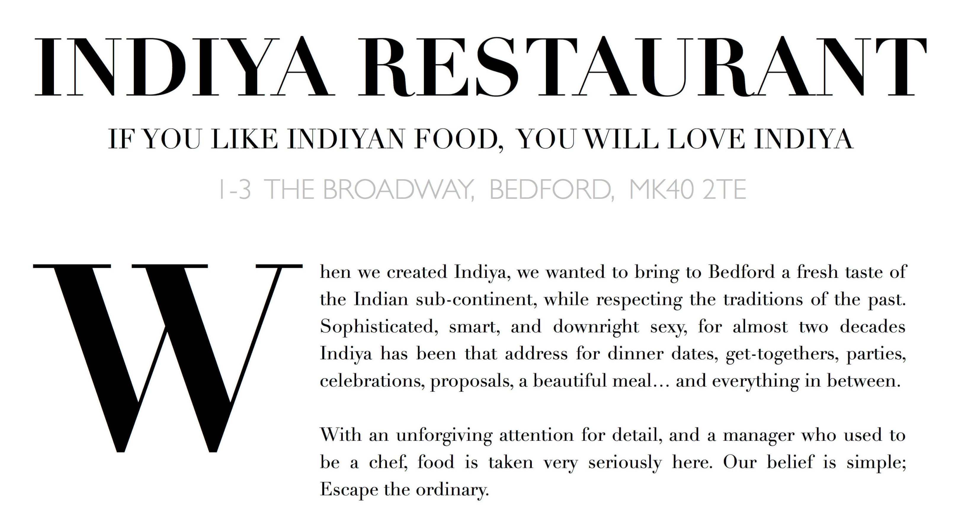 Indiya Indian Restaurant Takeaway Bedford
